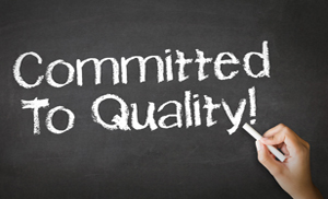 We're committed to quality service