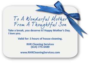 House Cleaning Gift Certificates